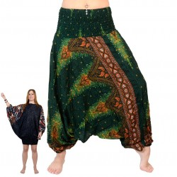 ZAALAC Harem pants 3 in 1, jumpsuit and skirt/blouse,boho.