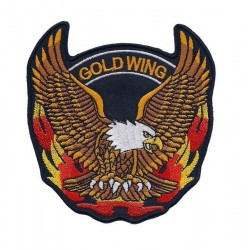 GOLD WING 2pcs embroidered/badge patches D 9,5 cm
