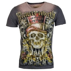 ZAALAC Gold Skull Biker Casual Fashion Large