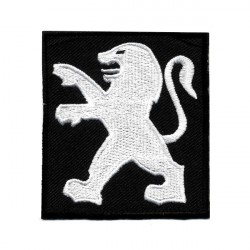 "PEUGEOT embroidered/badge patches L 6 cm ""H 7 cm"