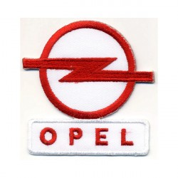 OPEL 2 pcs embroidered/badge patches L 5,5 cm H 6 cm