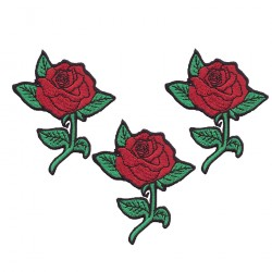 "ROSE embroidered/badge patches L 5 cm ""H 8 cm"