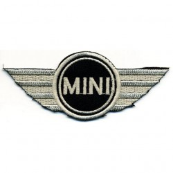 MINI COOPER 2 pcs embroidered/badge patches L 8,5 cm H 3 cm