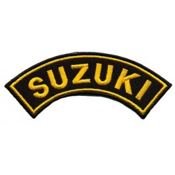 "SUZUKI 2 pcs embroidered/badge patches L 9 cm ""H 2,5 cm"