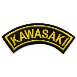 "KAWASAKI 2 pcs embroidered/badge patches L 9 cm ""H 2,5 cm"