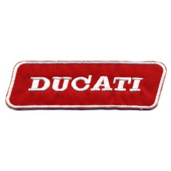 "DUCATI 2 pcs embroidered/badge patches L 11,5 ""H 3,5"
