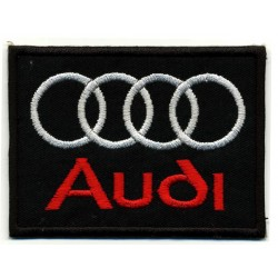 "AUDI 2 pcs embroidered/badge patches L 7 cm ""H 5,5 cm"