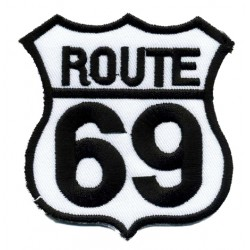 ROUTE 69 2 pcs embroidered/badge patches L 6,5 cm H 6,5 cm