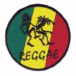 "REGGAE embroidered/badge patches ""D 80 mm"