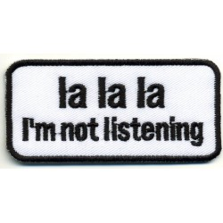 "LA LA LA 2 pcs embroidered/badge patches L 8 cm ""H 3,5"