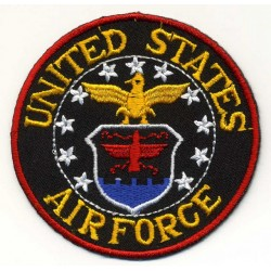 US AIR FORCE 2 pcs embroidered/badge patches D 6 cm