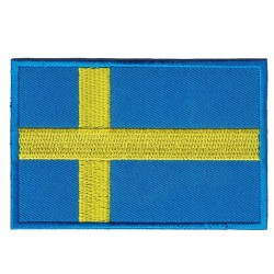 Big Sweden flag embroidered/badge patches L 9 cm H 5,5 cm