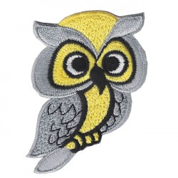 OWL embroidered/badge patches L 6 cm H 8 cm