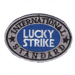 "LUCKY STRIKE embroidered/badge patches L 7 cm ""H 5 cm"