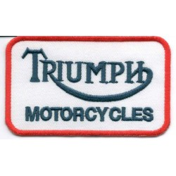 TRIUMPH 2 pcs embroidered/badge patches L 8 cm H 4,5 cm