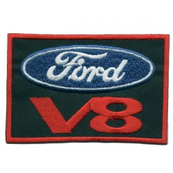 V 8 FORD 2 pcs embroidered/badge patches L 6,5 cm H 6 cm