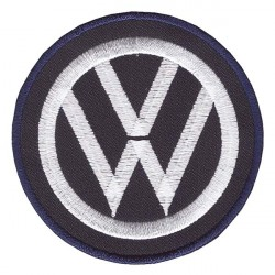 VW embroidered/badge patches D 65 mm