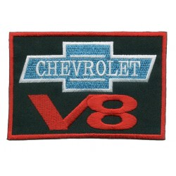V 8 2 pcs embroidered/badge patches L 8 cmH 4,5 cm