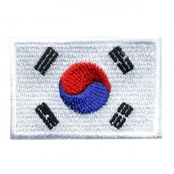 Big Korea flag 2 pcs/badge patches L 9 cm H 5,5 cm