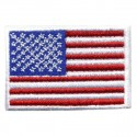 Big US flag embroidered/badge patches L 9 cm H 5,5 cm