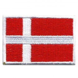 Big Denmark flag embroidered/badge patches L 9 cm H 5,5 cm