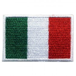 Big Italy flag 2 pcs/badge patches L 9 cm H 5,5 cm