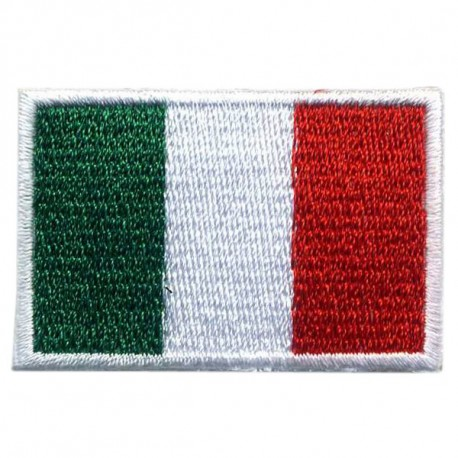 Big Italy flag embroidered/badge patches L 9 cm H 5,5 cm