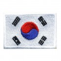 Big Korea flag embroidered/badge patches L 9 cm H 5,5 cm