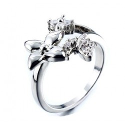Blance ring blomma silver