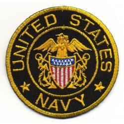 US NAVY 2 pcs embroidered/badge patches D 6 cm