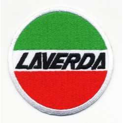 LAVERDA 2 pcs embroidered/badge patches D 7 cm