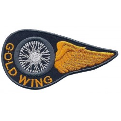 "GOLD WING 2 pcs embroidered/badge patches L 10 cm""H 5 cm"