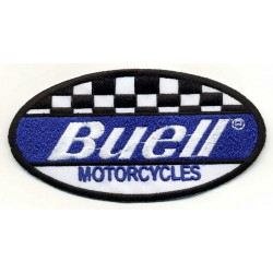 "BUELL 2 pcs embroidered/badge patches L 10,5 cm ""H 5,5 cm"