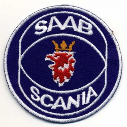 SAAB 2 pcs embroidered/badge patches D 7 cm