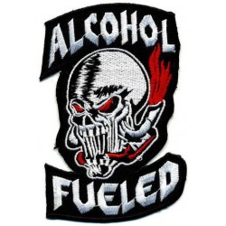 "ALCOHOL FUELED 2 pcs embroidered/badge L 6,5 cm""H 10,5 cm"