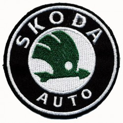SKODA 2 pcs embroidered/badge patches D 7 cm