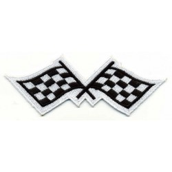 "CHECKER 2 pcs FLAG embroidered/badge patches L 11,5 ""H 4"