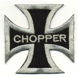 "CROSS CHOPPER 2 pcs embroidered/badge patches L 7,5 cm ""H 6,5"