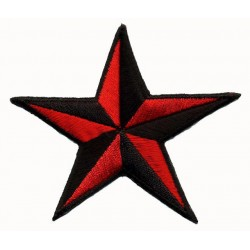 STAR 2 pcs embroidered/badge patches D 7,5 cm
