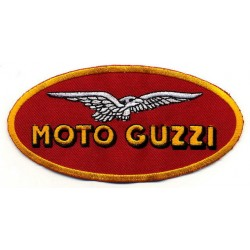 "MOTO GUZZI 2 pcs embroidered/badge patches L 11,5 ""H 6 cm"