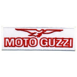 "MOTO GUZZI 2 pcs embroidered/badge patches L 17 cm ""H 5 cm"