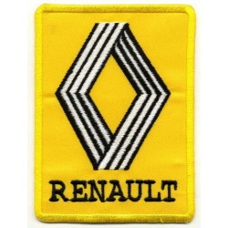 "RENAULT 2 pcs embroidered/badge patches L 6,5 cm ""H 9 cm"