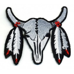 "RED BULL 2 pcs embroidered/badge patches L 7,3 cm ""H 6 cm"