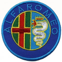 ALFA ROMEO embroidered/badge patches D 7 cm