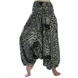 ZAALAC Harem Pants Yoga Baggy Boho Hippie Trousers Jumpsuit
