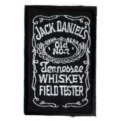 "JACK DANIELS embroidered/badge patches L 8 cm""H 4,5 cm"